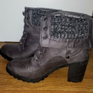 NWOT - Gray Heeled Booties
